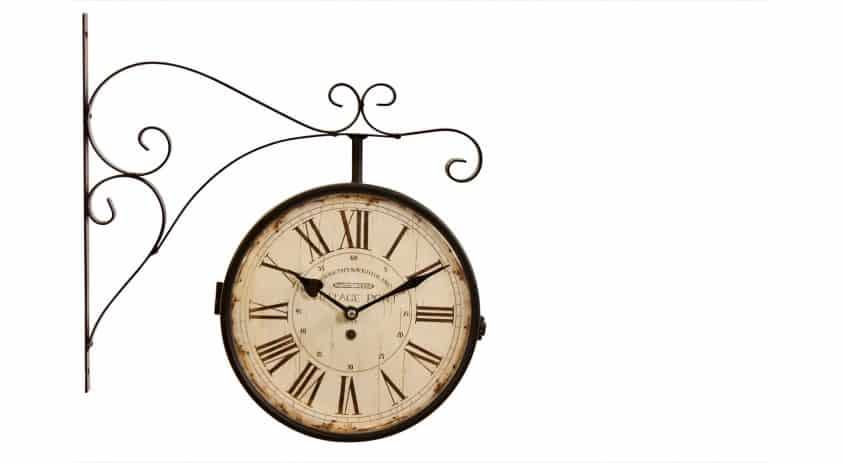horloge de gare ancienne double face vintage port 24cm. Black Bedroom Furniture Sets. Home Design Ideas
