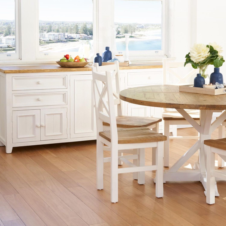 meuble bas rangement bois blanc 4 tiroirs. Black Bedroom Furniture Sets. Home Design Ideas