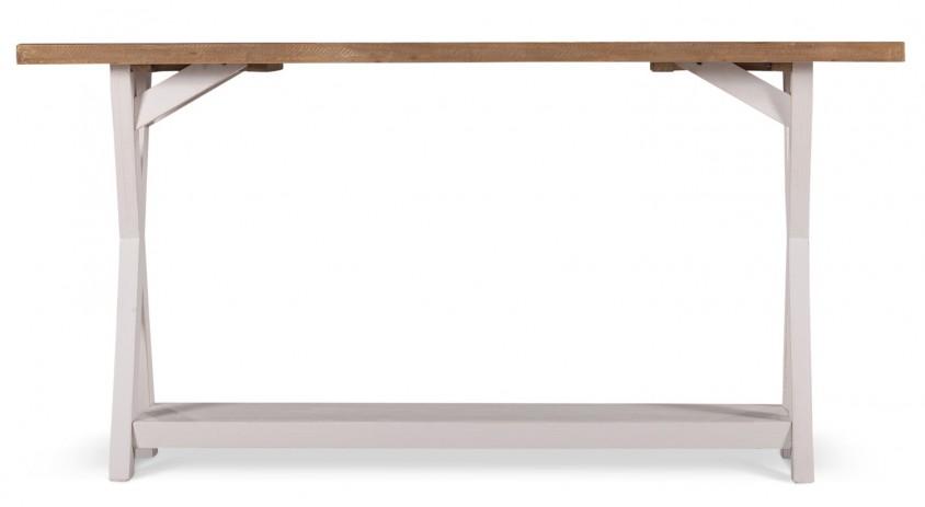 Meuble Console Bois Blanc 150x40x74.5cm