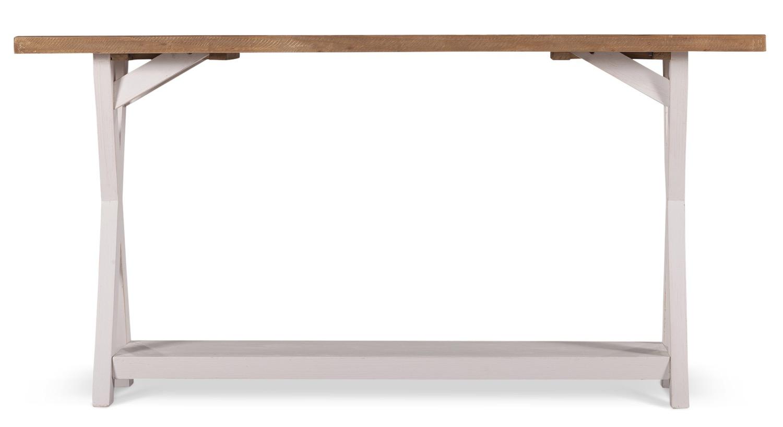 Meuble Console Bois Blanc Césuré 150x40x74.5cm