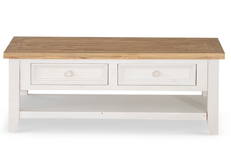 Meuble Bas De Rangement Pour Cuisine meuble bas rangement bois blanc césuré 2 tiroirs 120x60x45cm