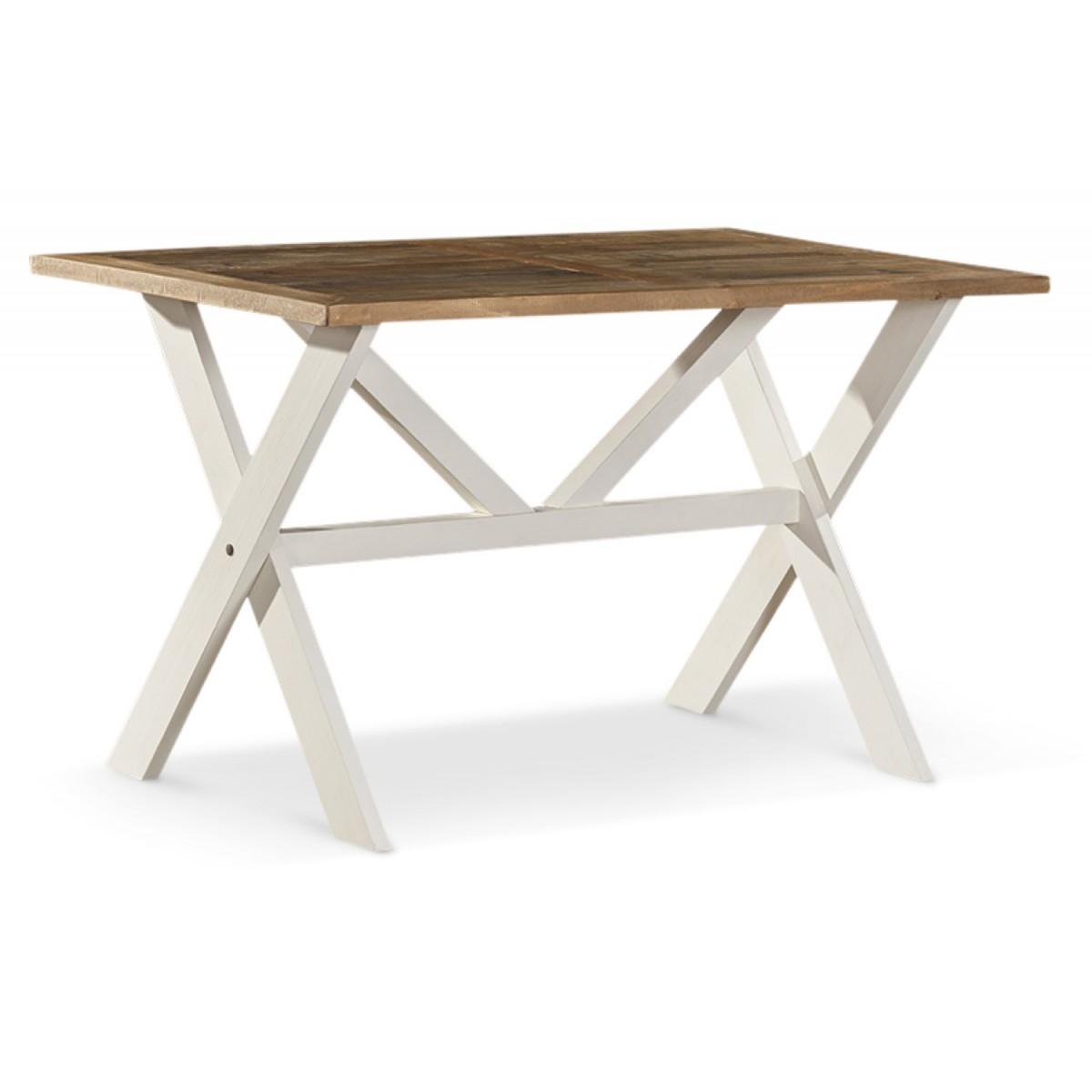 Table Haute Bois Blanc Césuré 160x105x88.5cm