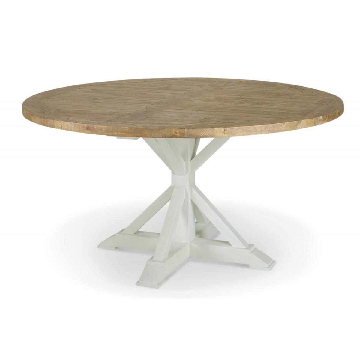 Table Ronde Bois Blanc Césuré 150cm