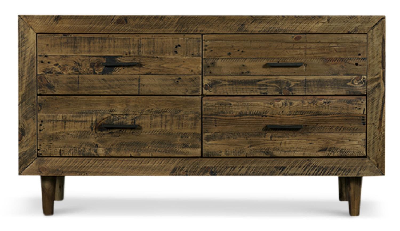 Meuble Bas Rangement Bois 120x40x68cm