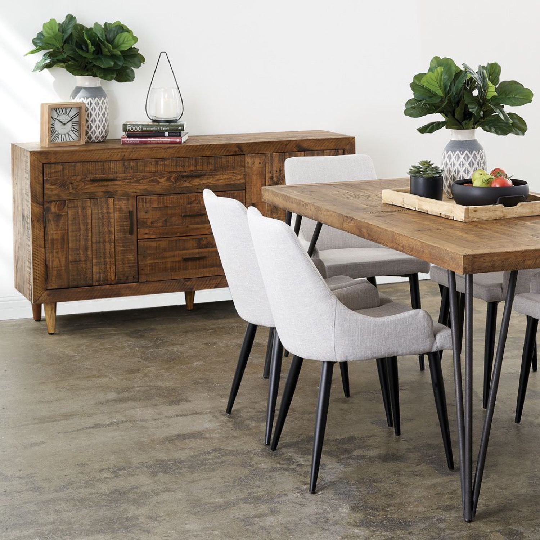 meuble bas rangement bois 3 tiroirs 160x45x86cm. Black Bedroom Furniture Sets. Home Design Ideas