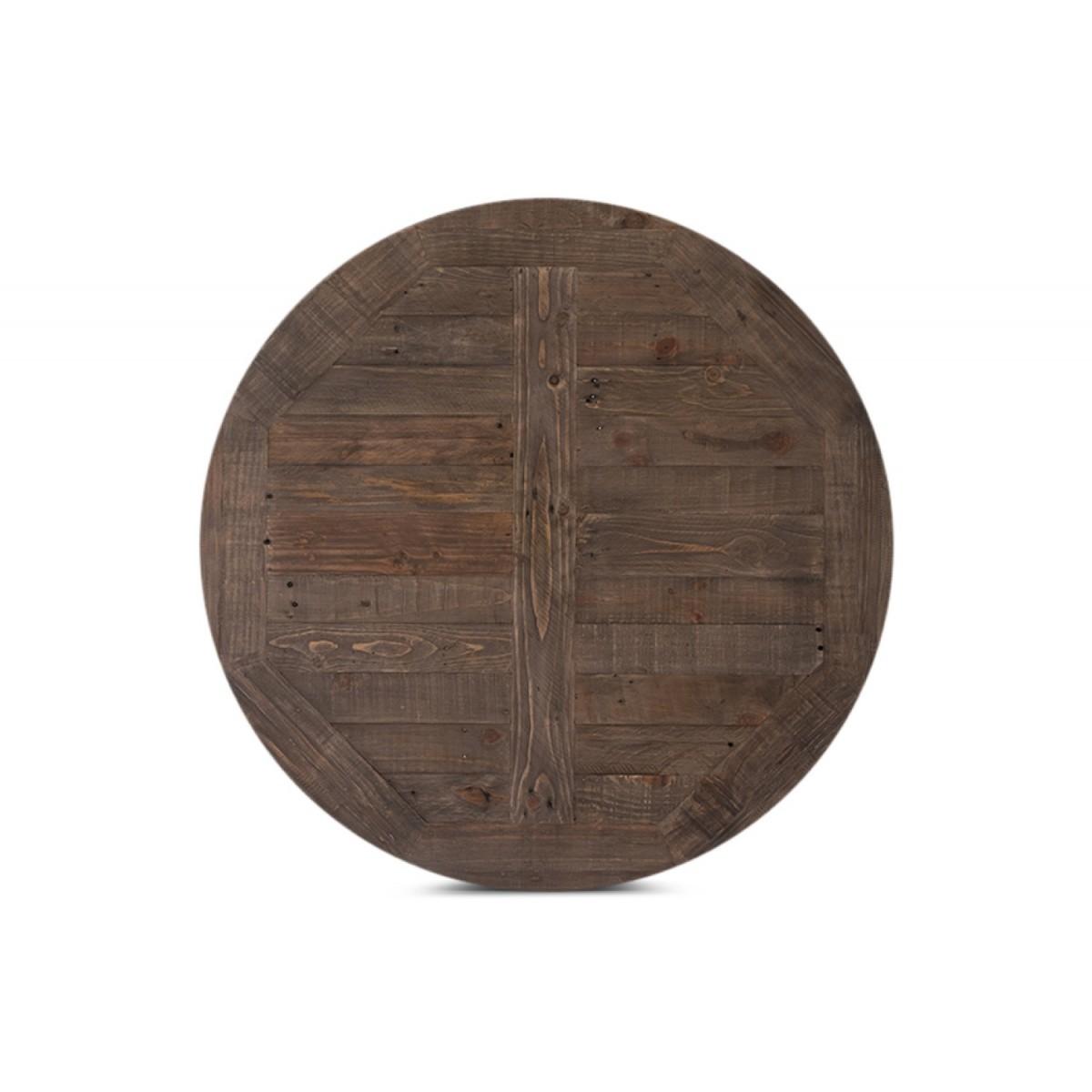 Table Haute Bois Fer Forgé 110x110x105cm