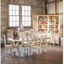 Table Rectangulaire Bois Blanc Césuré 230x90x78.5cm