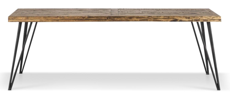 Table Bois Fer Forgé Marron 220x90x80cm