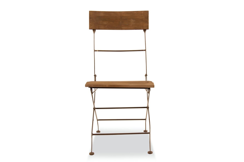 Chaise Fer Forgé Et Bois chaise bois fer forgé marron 40x50.5x93.5cm