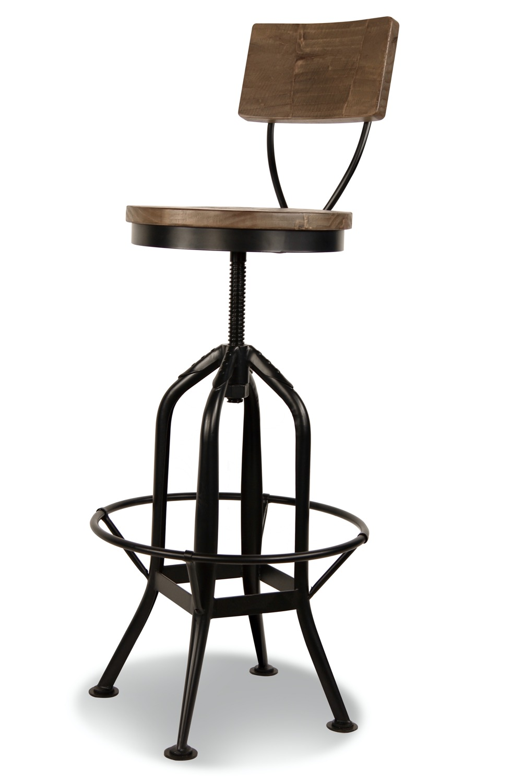 Chaise Fer Forgé Et Bois chaise haute tabouret bois fer forgé 40.5x40.5x102cm