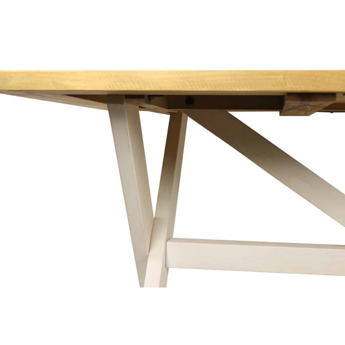 Table Rectangulaire Bois Blanc Césuré 180x90x78cm