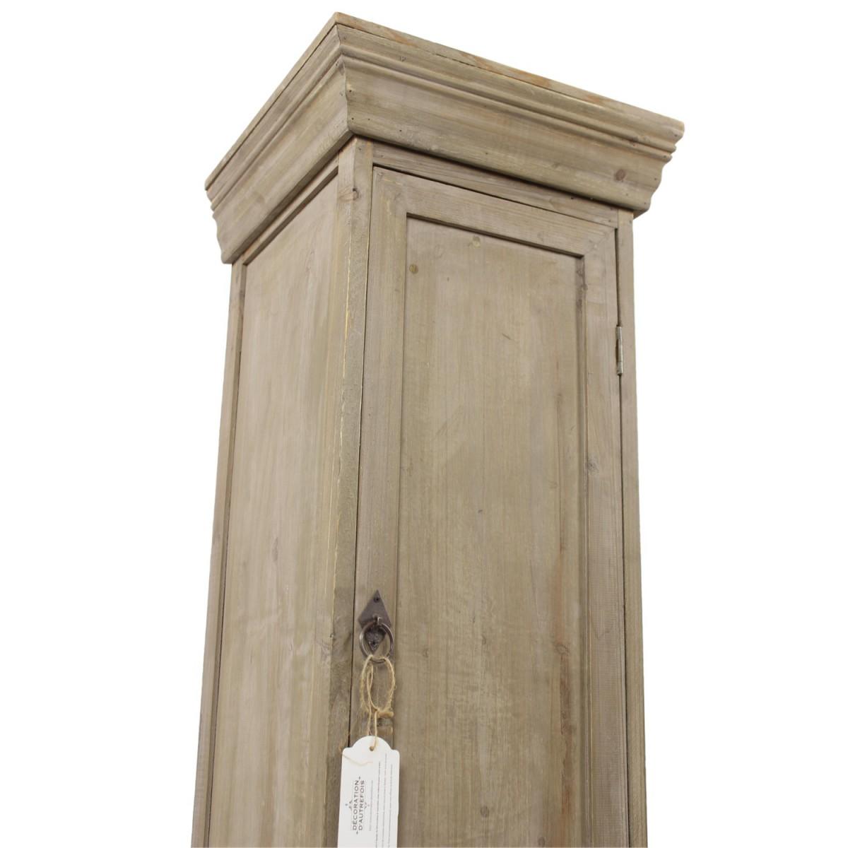 Meuble Bas Rangement Bois 1 Porte 37.5x36x100cm