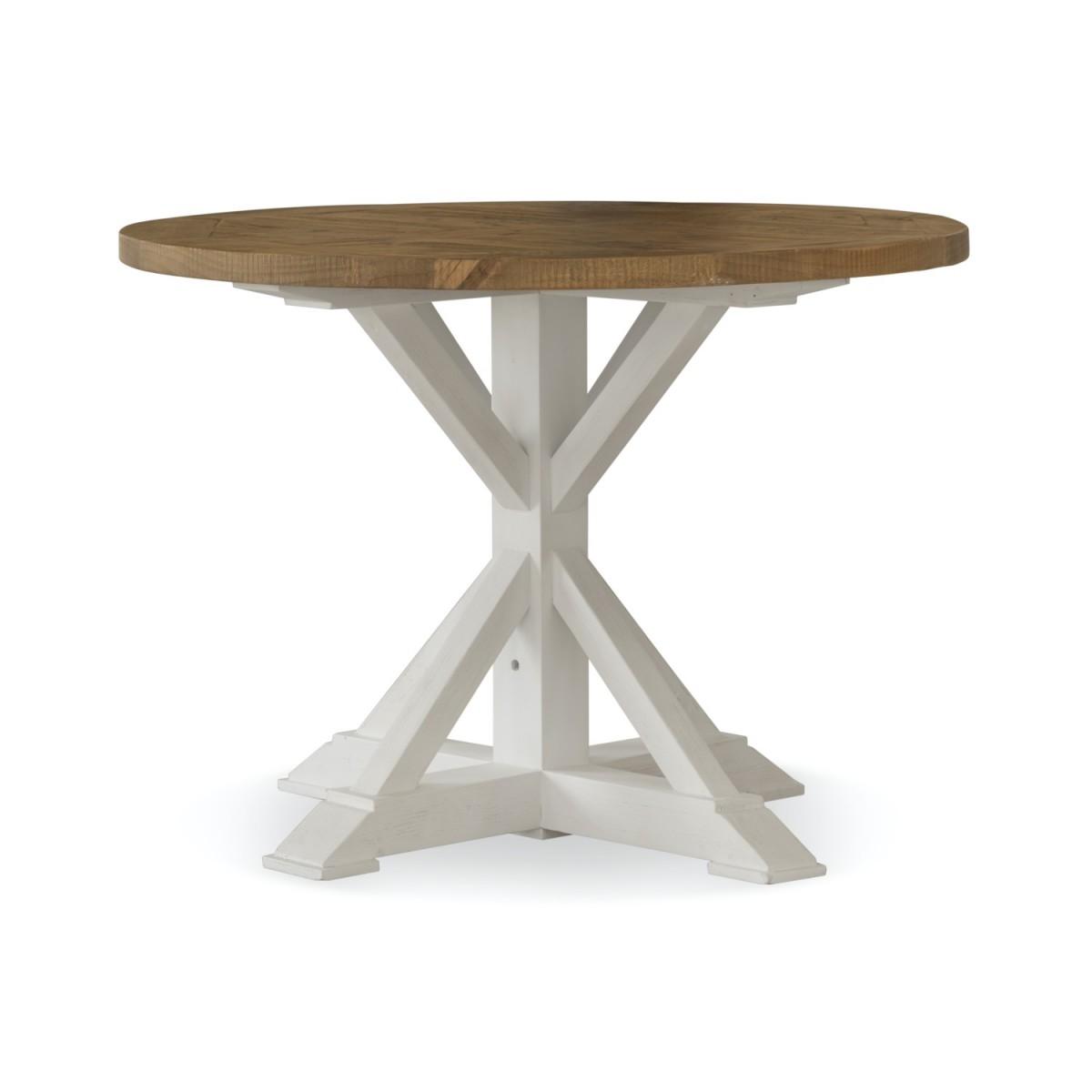Table Ronde Bois Blanc Césuré 110x110x78cm