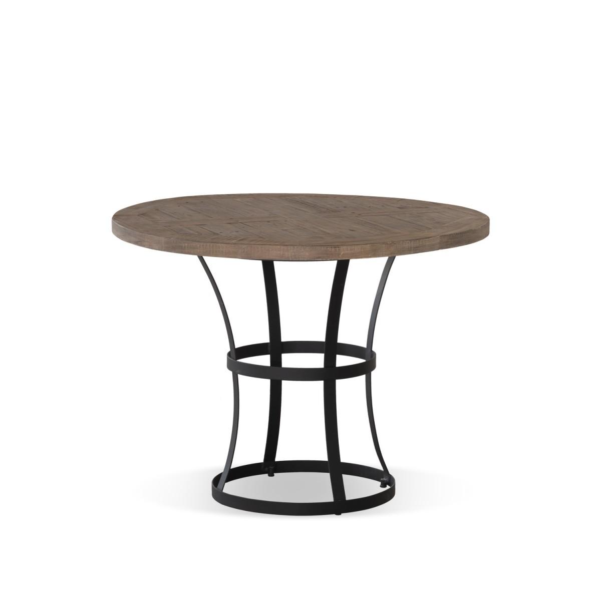 Table Ronde Bois Marron 100x100x75cm