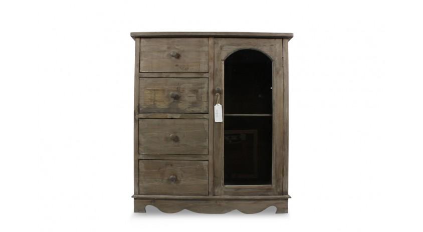 meuble bas rangement bois 4 tiroirs 80x40x90cm. Black Bedroom Furniture Sets. Home Design Ideas
