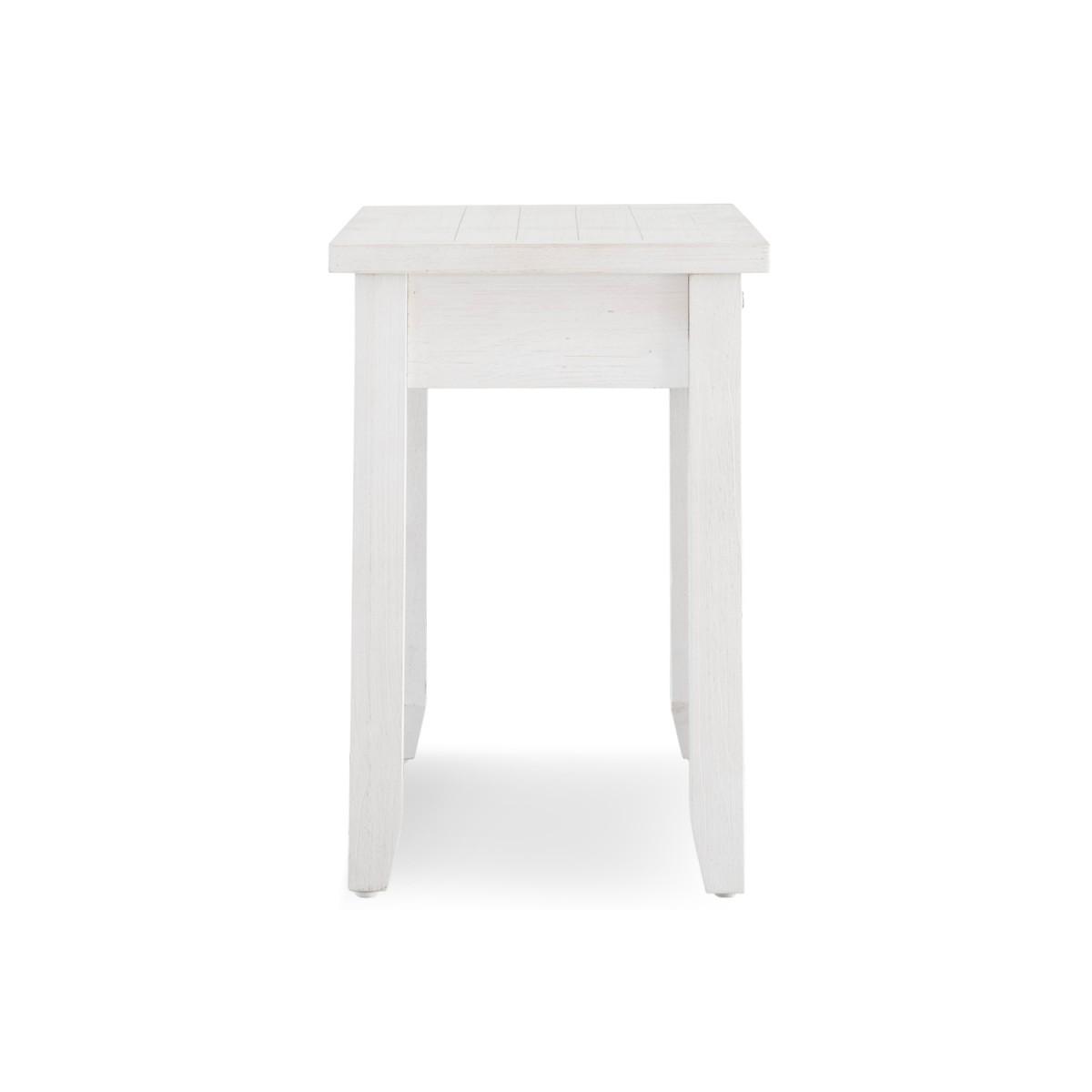 Bureau 1 Tiroir Bois Blanc 110x50x76cm