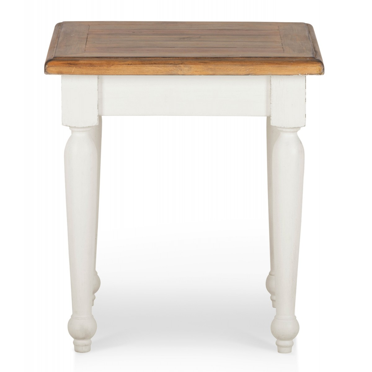 Table de chevet Bois Blanc 50x50x55cm