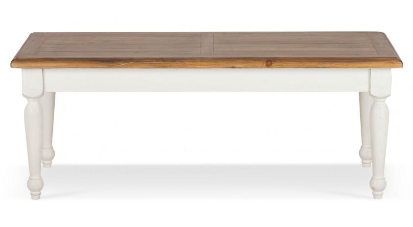 Table basse Bois Blanc 120x60x45cm