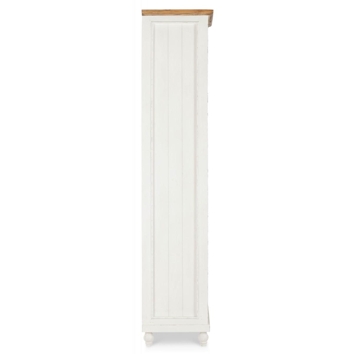 Bibliothèque Bois Blanc 80x38x180cm