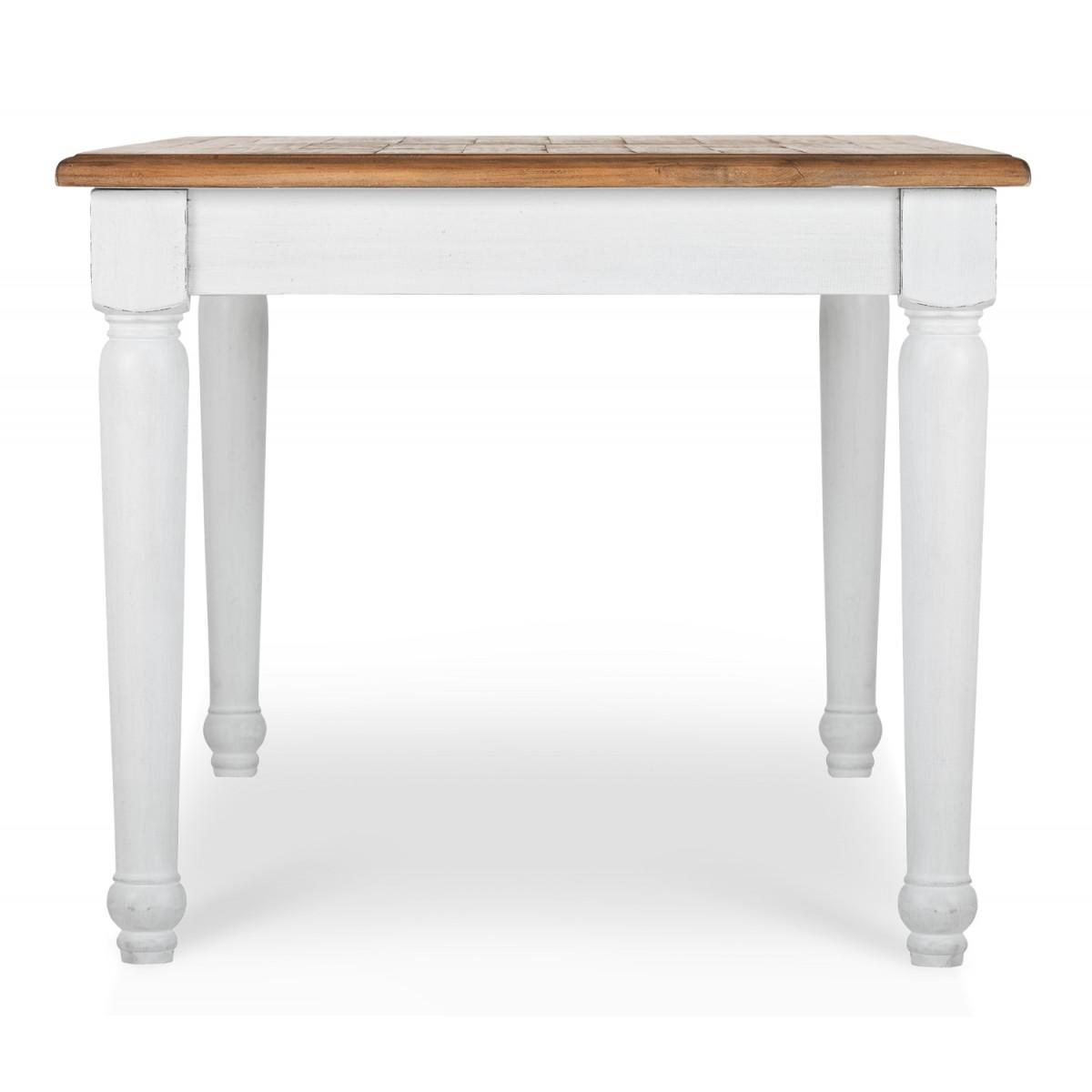 Table à manger Bois Blanc 180x90x76cm