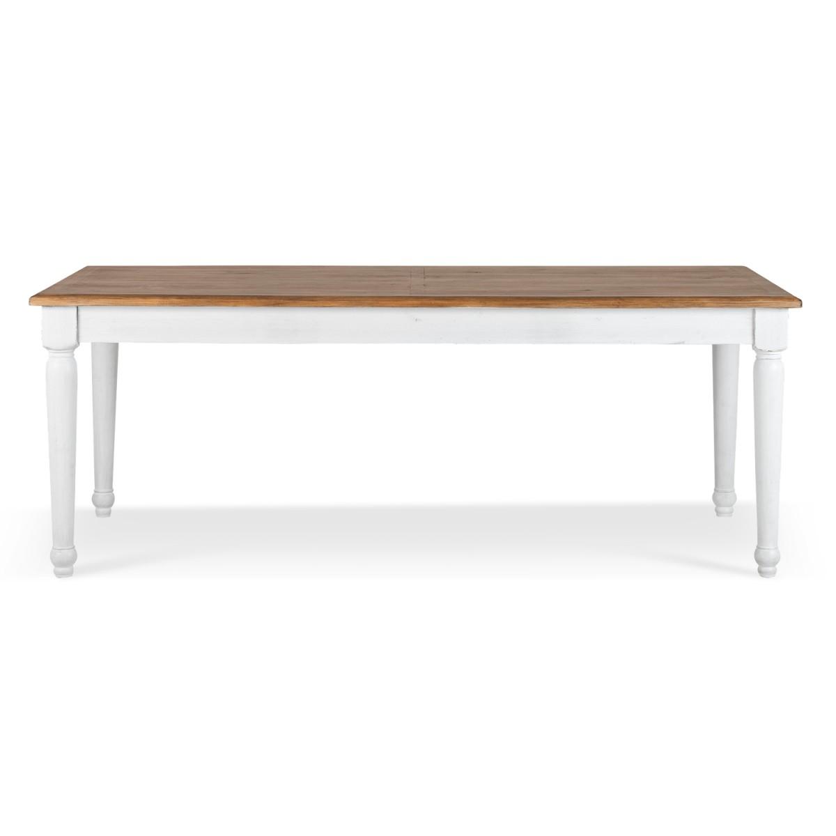 Table à manger Bois Blanc 200x100x76cm