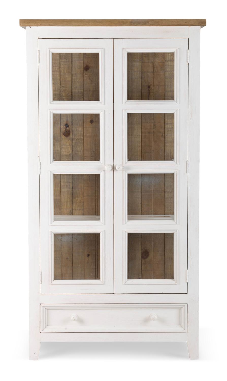 Vaisselier 1 Tiroir Bois Blanc 96x47x179cm