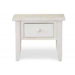 Table de chevet 1 Tiroir Bois Blanc 60x44x50cm