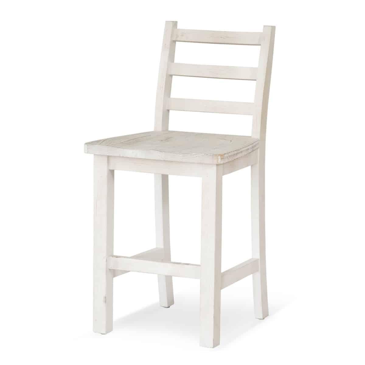 Chaise haute Bois Blanc 47x51x95cm