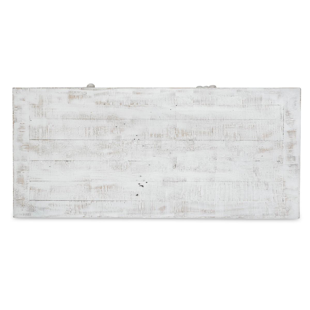 Commode 6 Tiroirs Bois Blanc 100x45x129cm