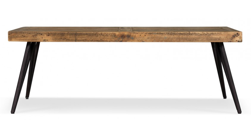 Table basse Bois Métal Marron 130x70x45cm