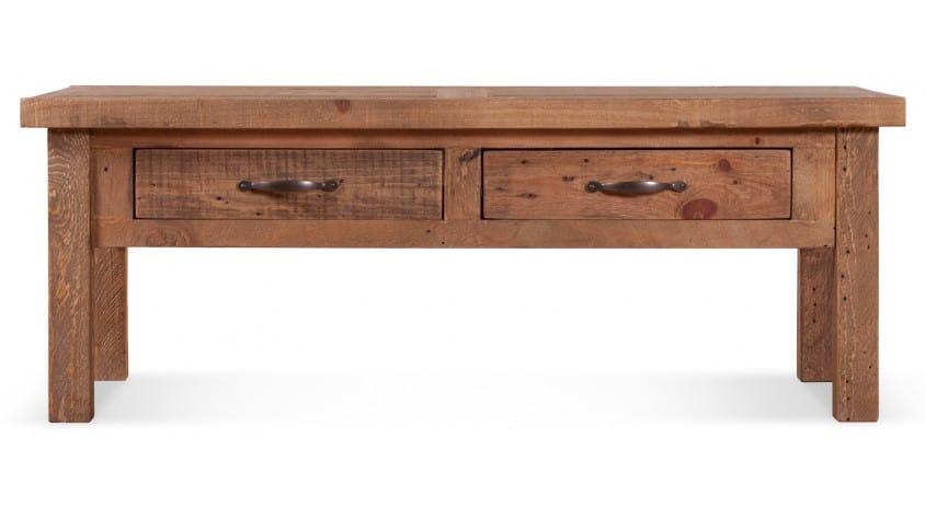 Table basse 2 Tiroirs Bois Marron 120x60x45cm