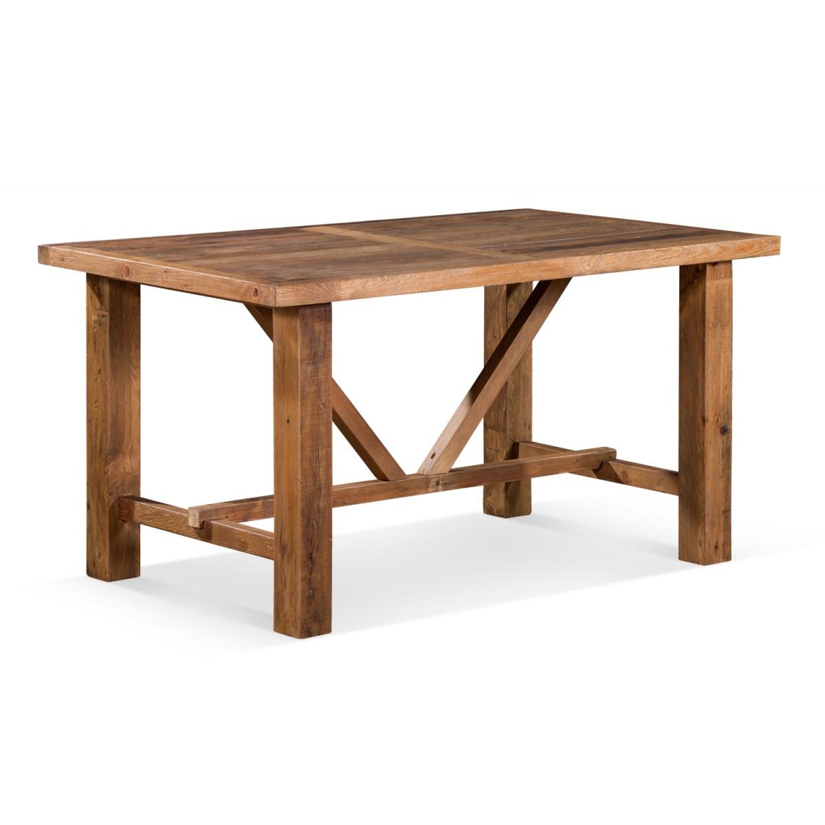 Table à manger Bois Marron 150x90x78.5cm