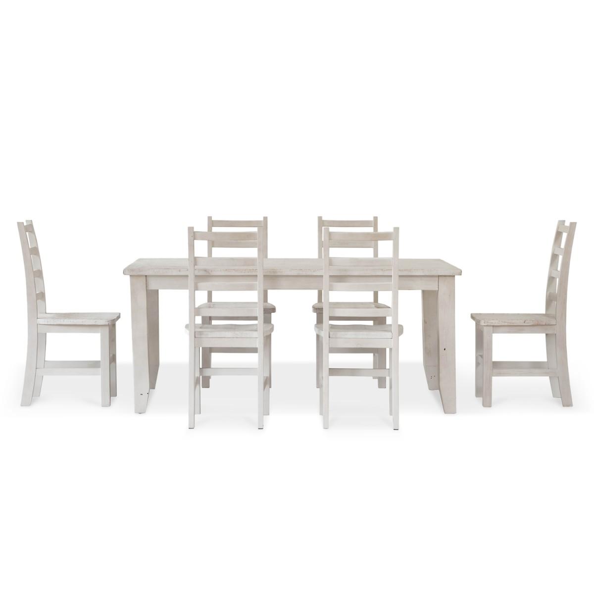 Table à manger Bois Blanc 180x105x77.5cm