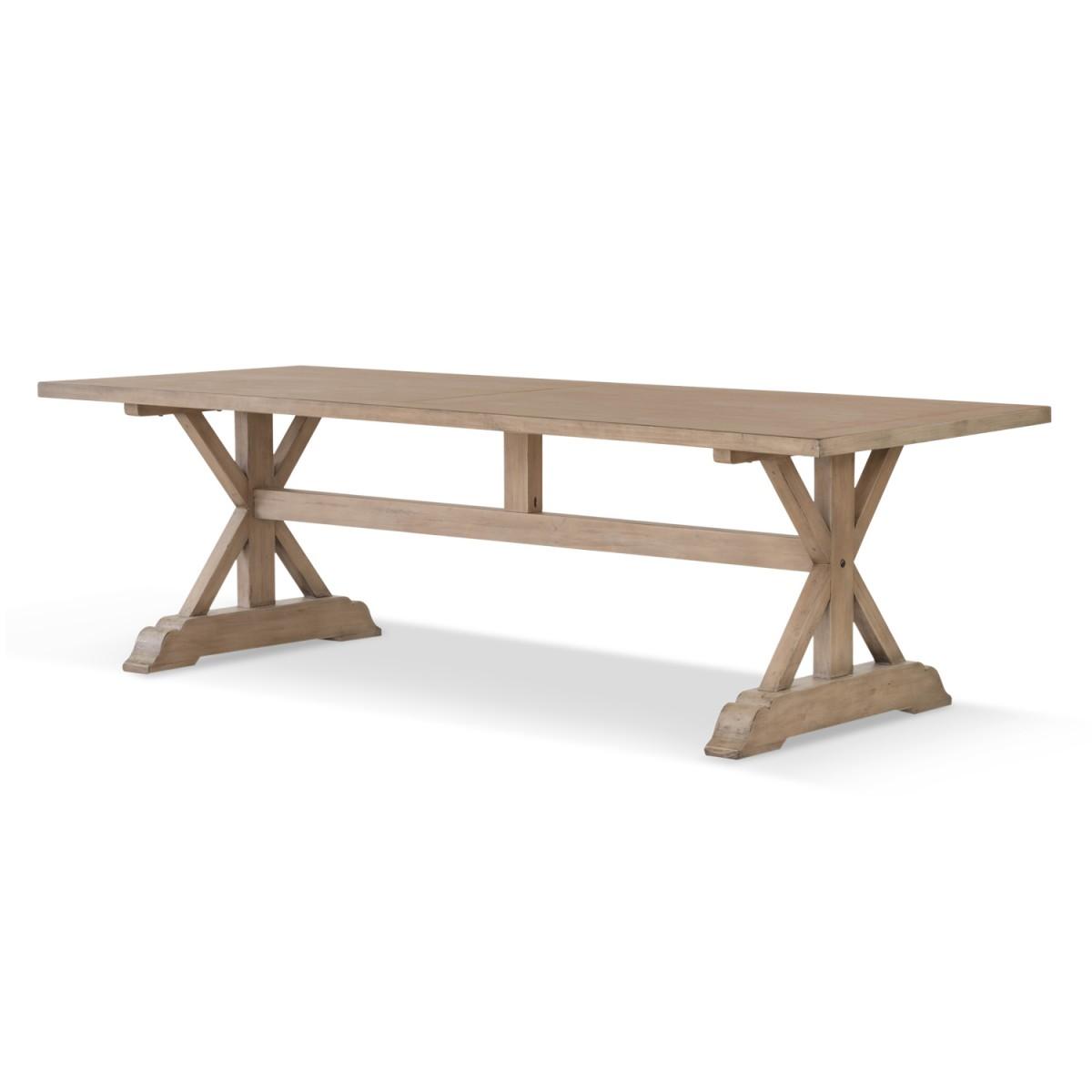 Table à manger Bois Marron 250x100x76cm
