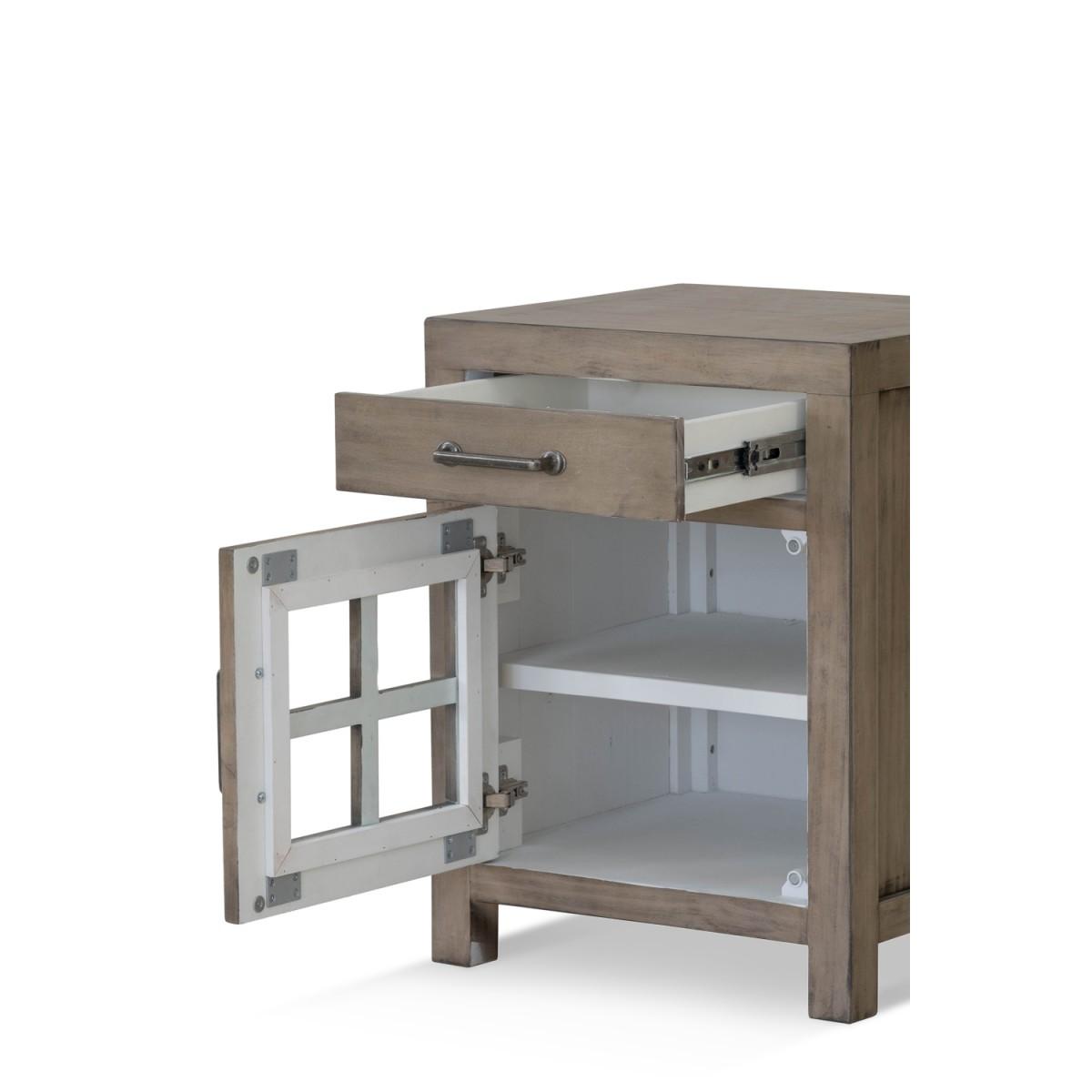 Table de chevet 1 Tiroir Bois Marron 50x45x65cm