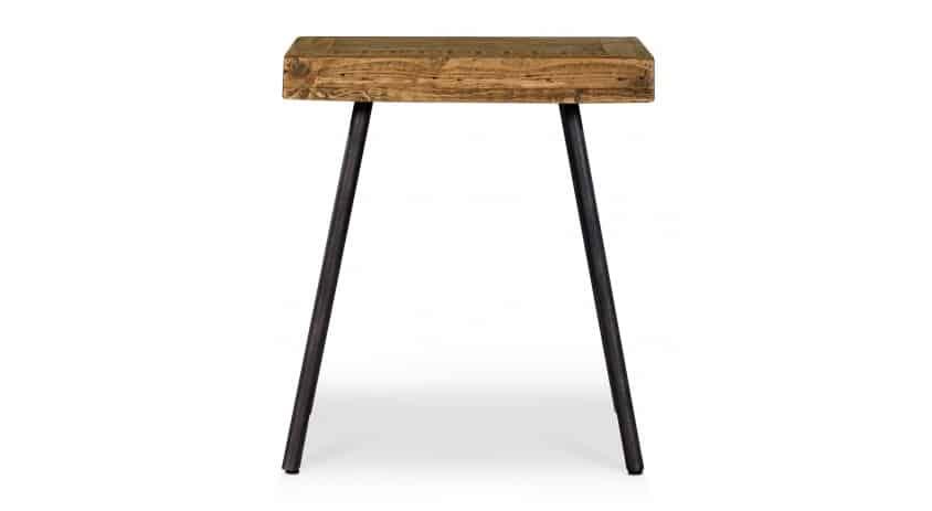 Table de chevet Bois Métal Marron 50x50x55cm