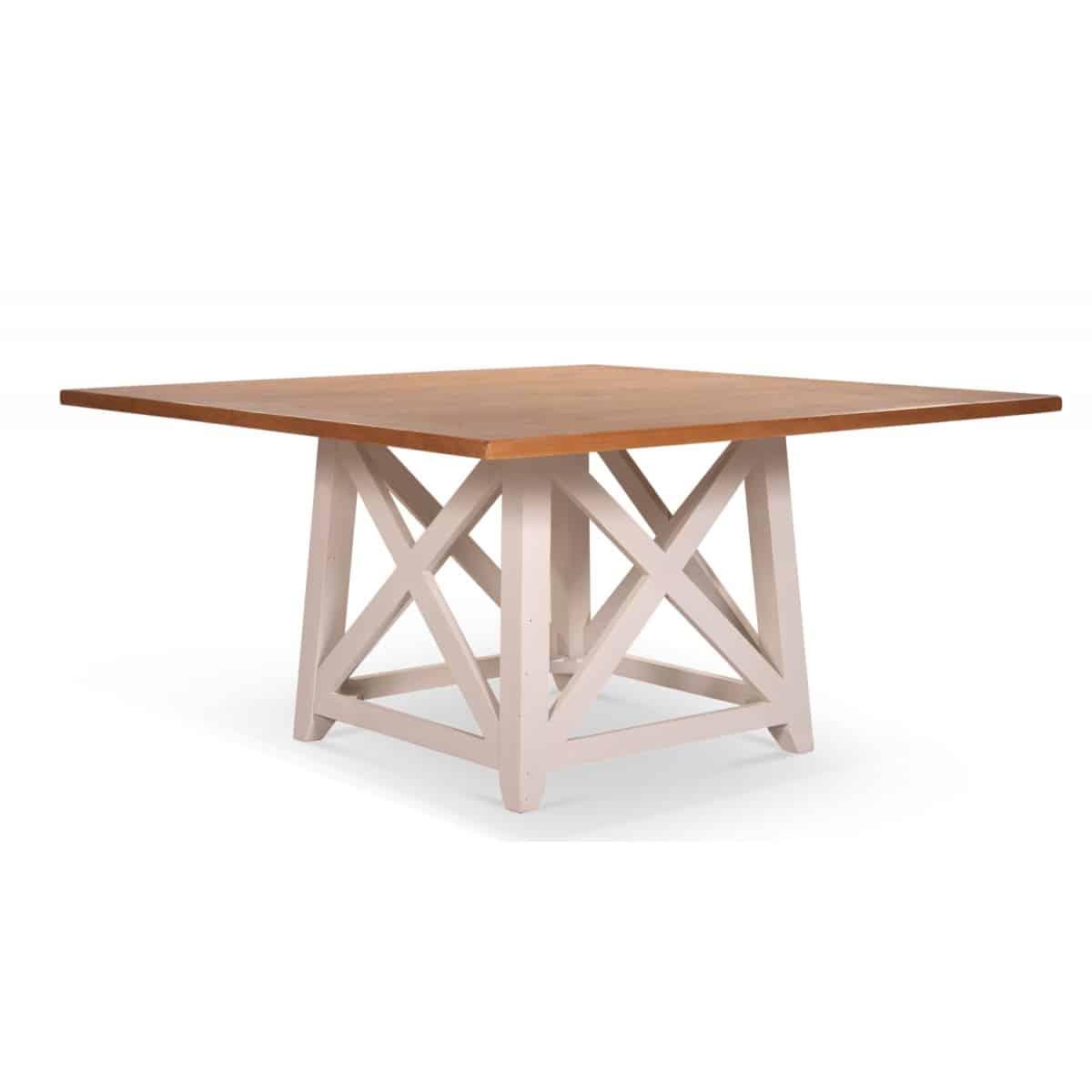 Table à manger Bois Blanc 150x150x77cm