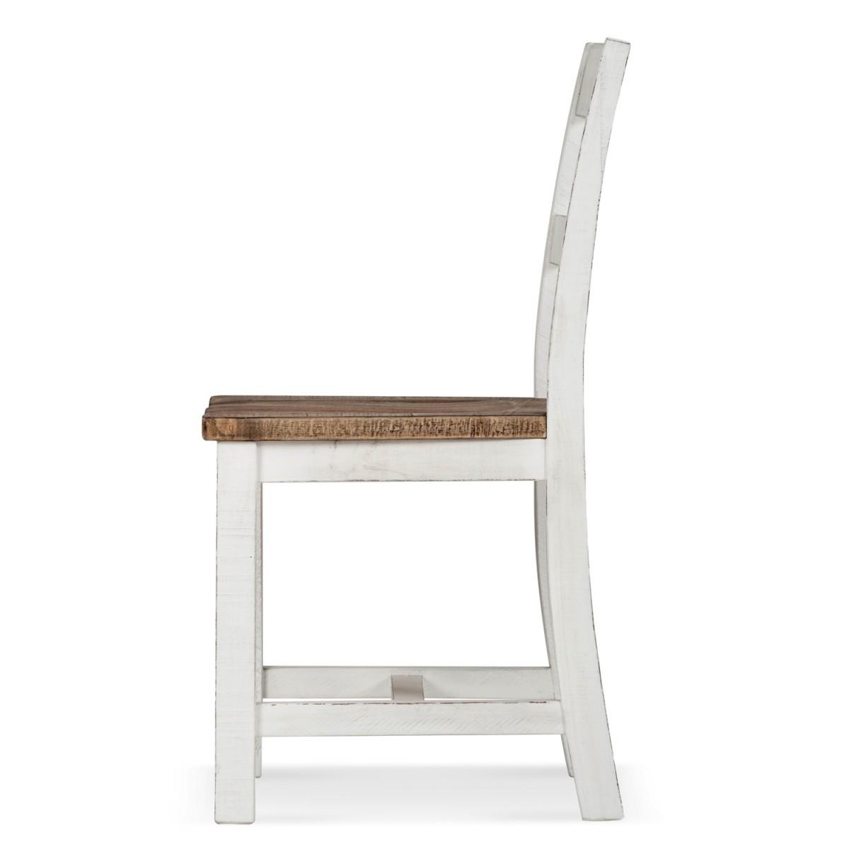 Chaise Bois Blanc 47.5x50x92.5cm
