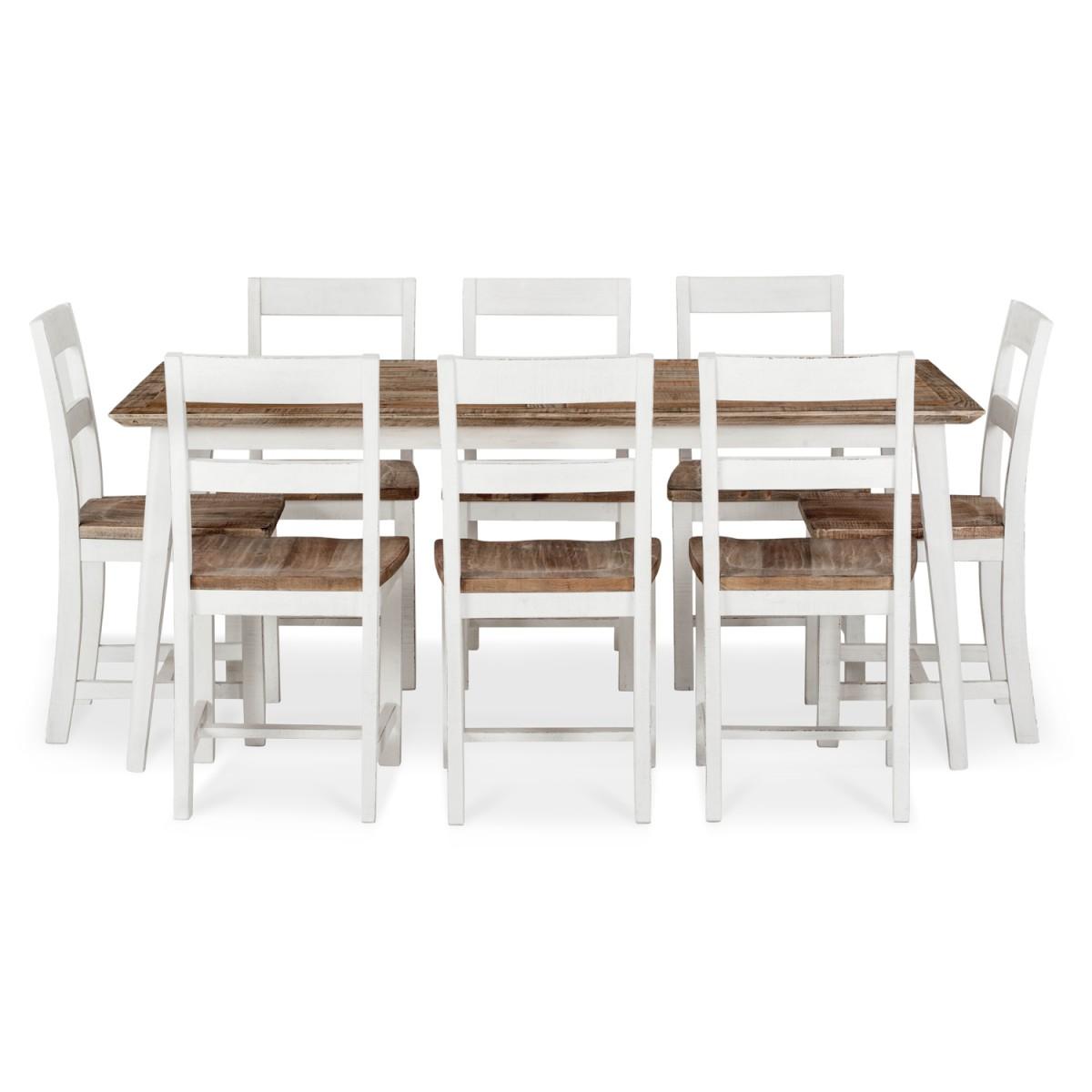 Table à manger Bois Blanc 180x90x77cm