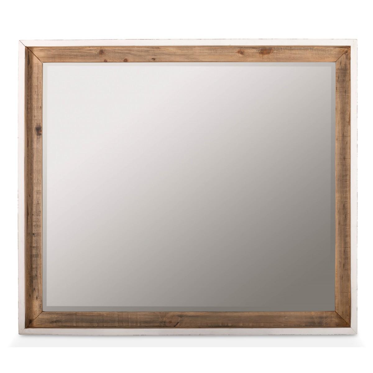 Miroir Bois Blanc 110x110x95cm