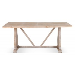 Table à manger Bois Marron 180x90x76cm