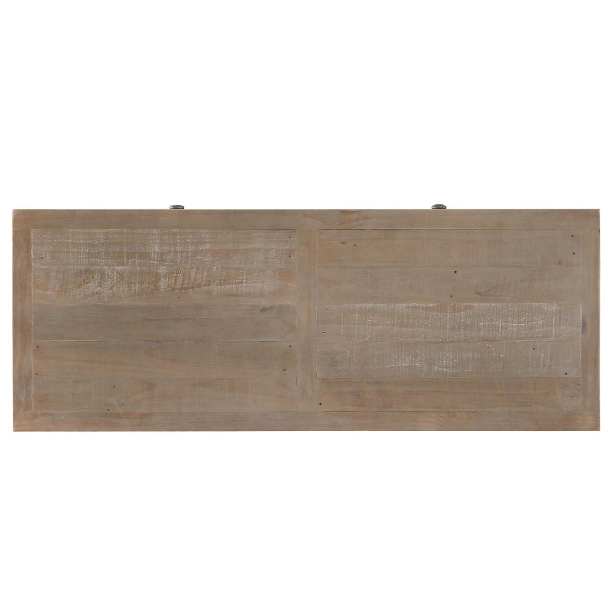 Commode 6 Tiroirs Bois Marron 120x45x85cm