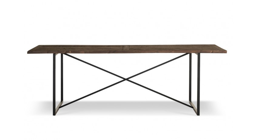 Table à manger Bois Métal Marron 230x100x76cm