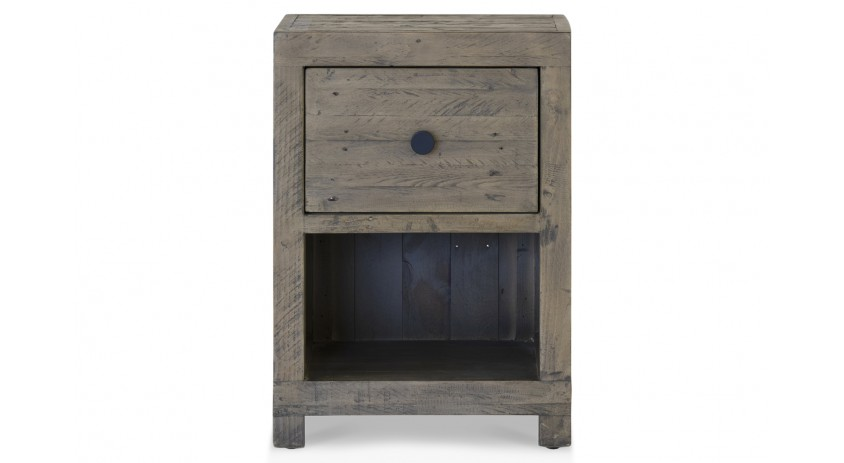 Table de chevet 1 Tiroir Bois Marron 47.5x41x66.5cm