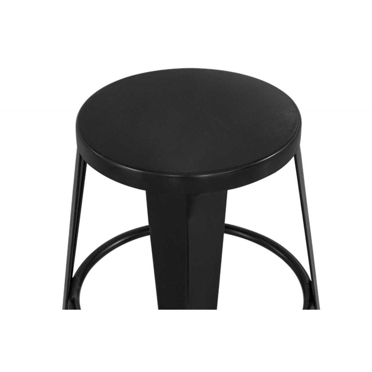 Tabouret Metal Noir 30x30x45cm