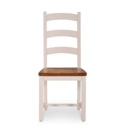Chaise Bois Blanc 47x50x108cm