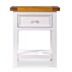 Table de chevet Bois Blanc 50x45x60cm