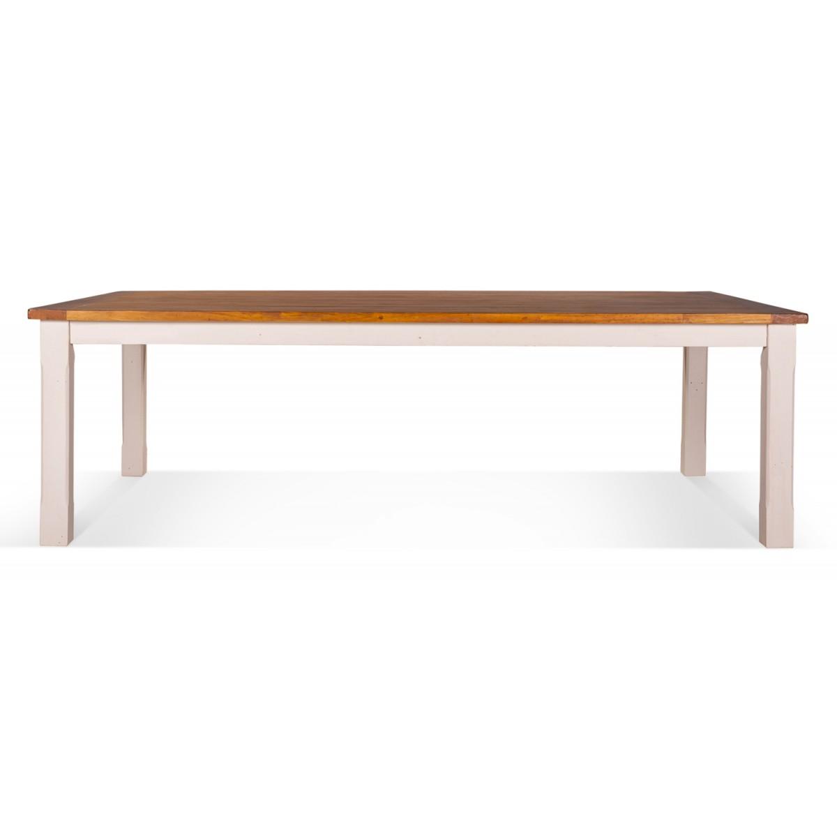 Table à manger Bois Blanc 250x150x77.5cm
