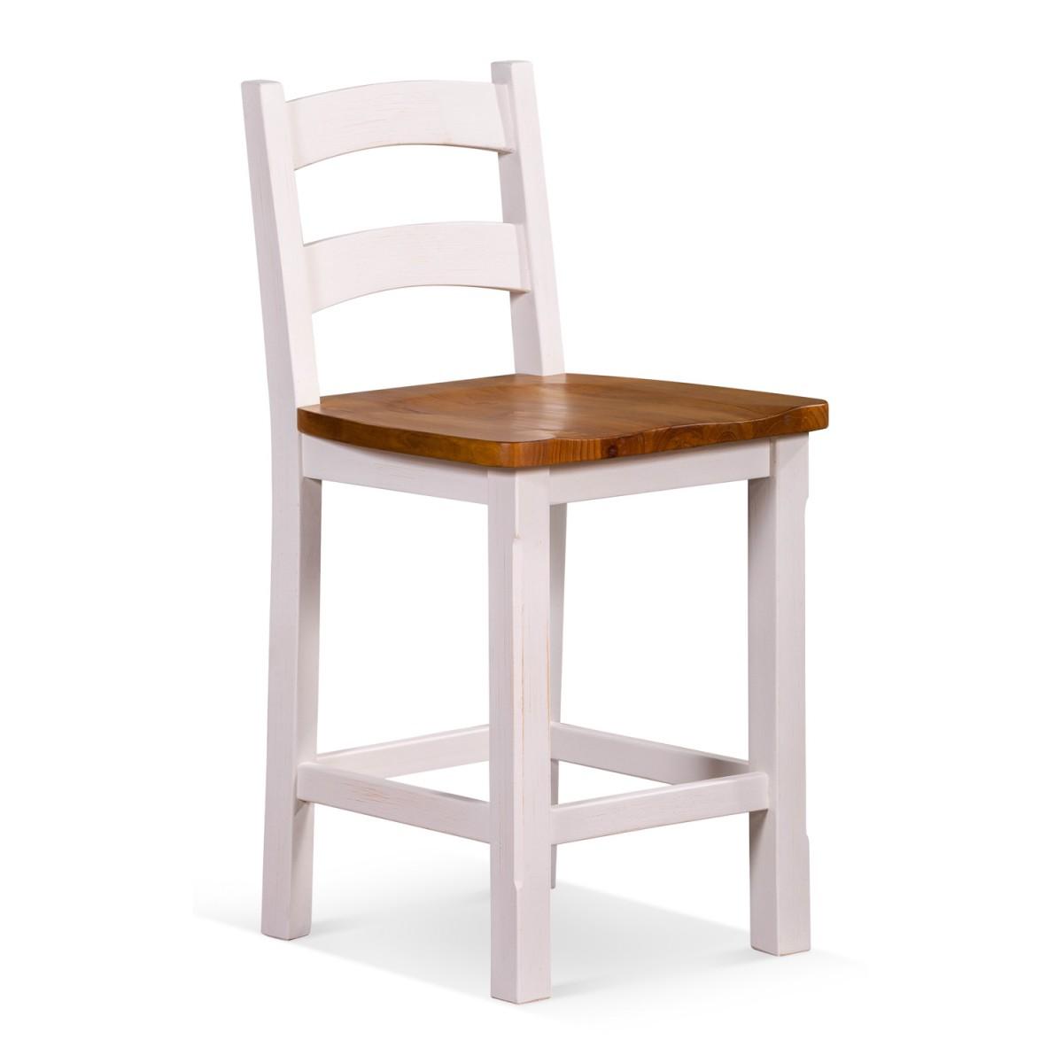 Chaise haute Bois Blanc 47.4x48.3x95cm
