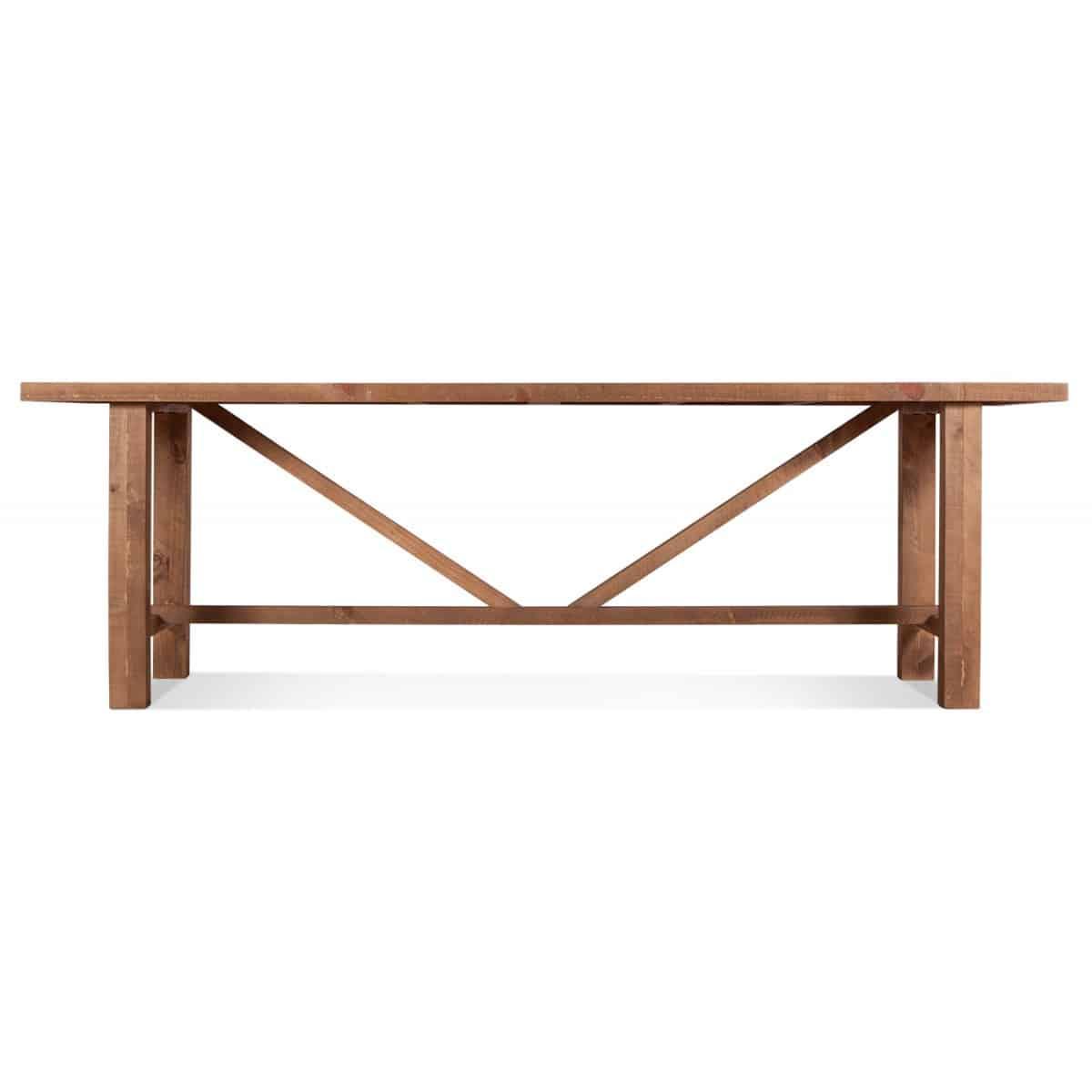 Table à manger Bois Marron 250x90x78.5cm